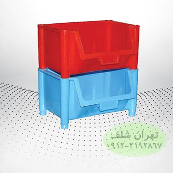 پالت پلاستیکی130×160×210 میلیمتری