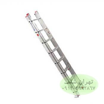 نردبان صنعتی کشویی 21 پله آلومینیومی