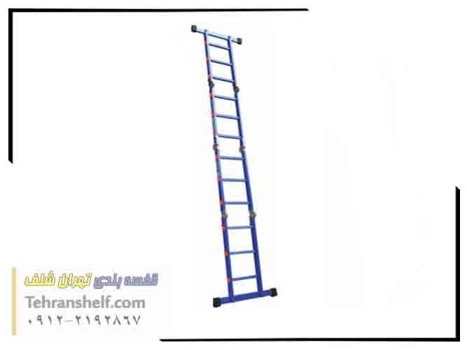 نردبان صنعتی تاشو ۱۲ پله ۴ تکه