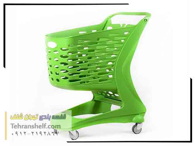 چرخ خرید فروشگاهی 90 لیتری پلی کربنات