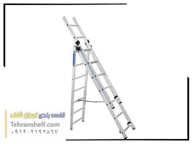 نردبان صنعتی کشویی 28 پله آلومینیومی