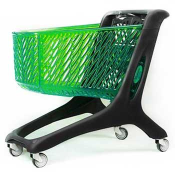 چرخ خرید فروشگاهی 210 لیتری پلی کربنات