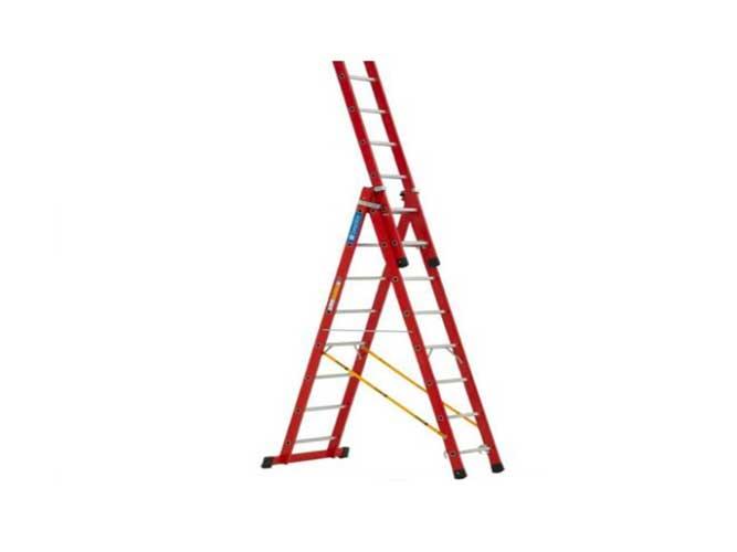 نردبان صنعتی 30 پله ۳ کشو