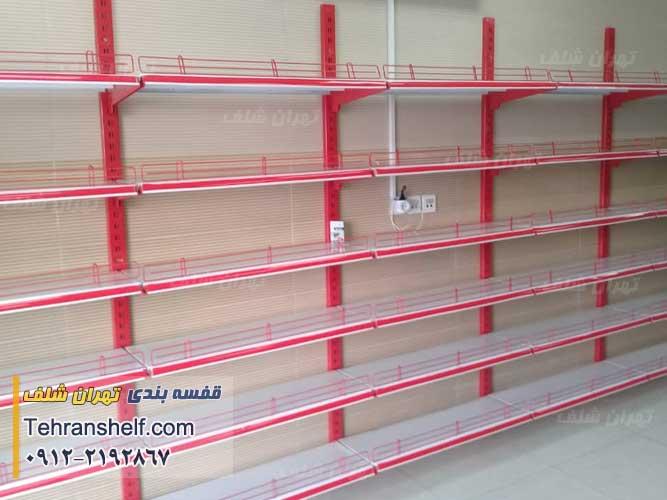 قفسه فروشگاهی یک طرفه دیواری